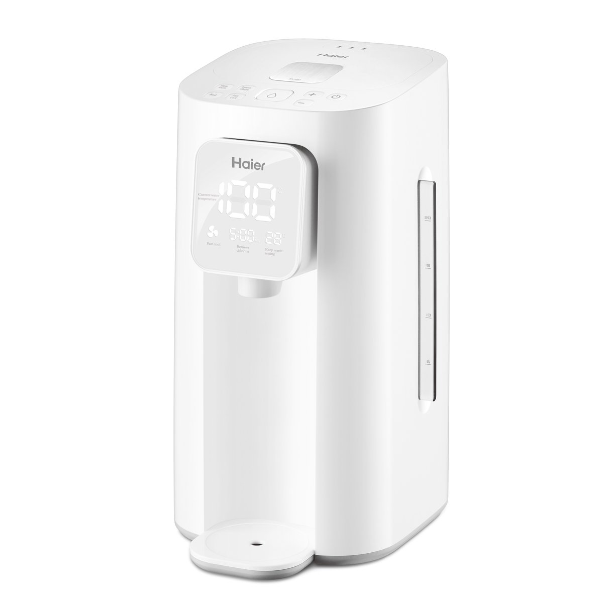 Haier HBM-F25 2.0 Liter Hybrid Water Boiler and Warmer, Hot Water Dispensers Hot&Cold Water 0℃~99℃ Adjustable with De-chlorination Technology, LED Digital Display Screen Stainless Steel Interior