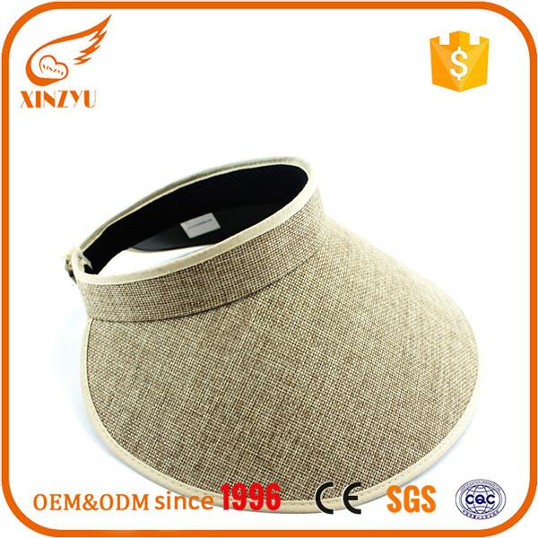 Custom handwoven cloth face without elastic band funny sun visor hats b32e93934d10