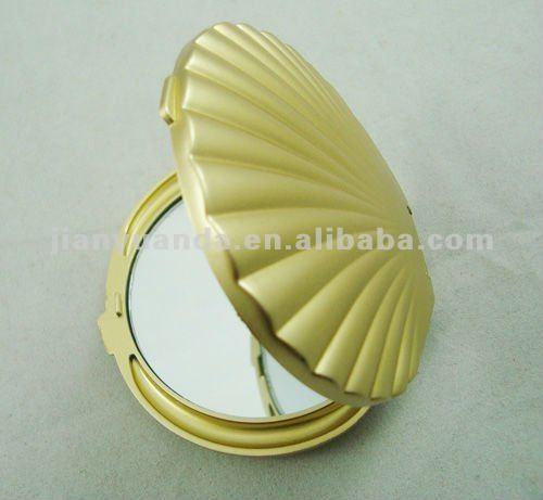 Stylish! Shell Shaped Make-up Mirror Folding Vanity Mirror 2x ...