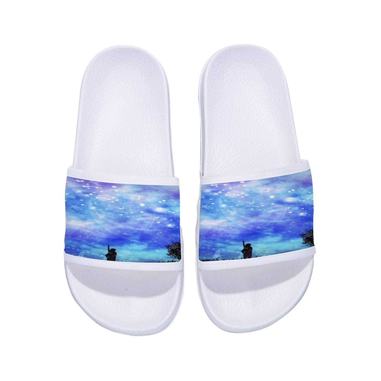 Boys Girls Slides Sandals Anti-Slip Soft Sole Open Toe Sandal Shoes (Little Kid/Big Kid)