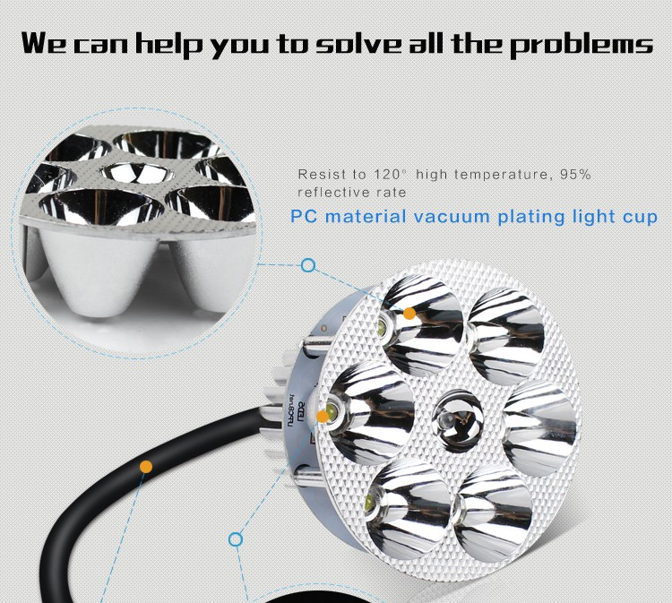 Electrombile LED headlight motorcycle Headlamps Super bright universal voltage built-in headlamps with 6 beads