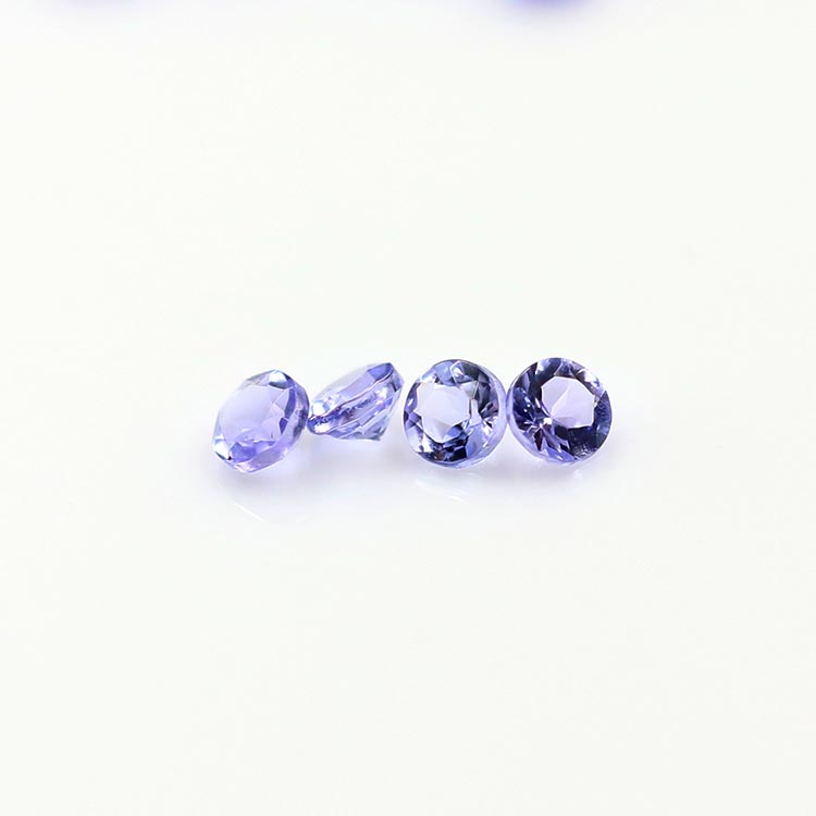 natural 2.0mm diamond cut natural tanzanite