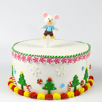 Diy Children Birthday Cake Stand Kawaii Mini Mouse Shape Cake