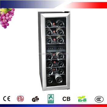 21 Bottle Dual Zone Thermoelectric Freestanding Wine Cooler Cellar