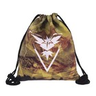 Eco-friendly pokemon go cartoon polyester nylon oxford swimming sport pack gym pack drawstring bag