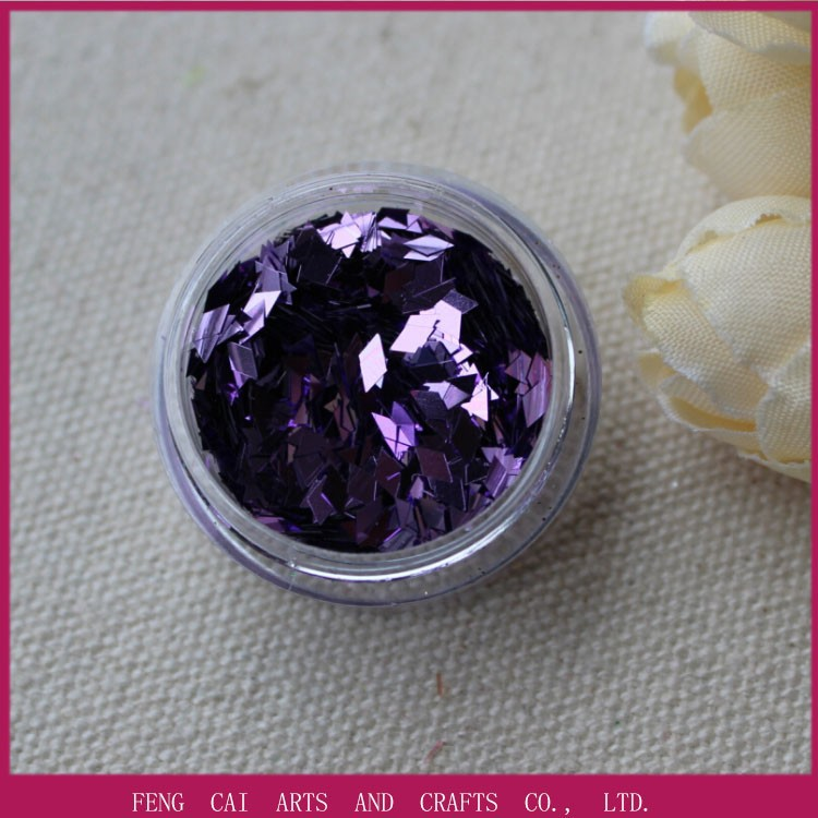 high quality rhombus holographic acrylic glitter powder for nail polish B0802A