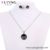 S-436 Xuping round jewelry, rhodium plated jewelry necklace set, wholesale jewelry