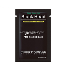 Mendior Best Blackhead Remover Cosmetics Minerals Mud Facial Black Mask Deeply Cleansing Nose Mask, 6g