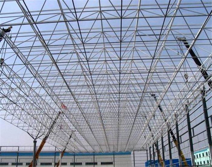 Coloured Space Frame Prefabricated Steel Building