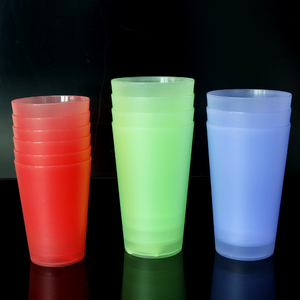 reusable 500ml reusable plastic water drinking cup