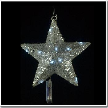 Christmas Decorative Solar String Lights Star Shaped Led Light Gift Box Large Fancy Glitter