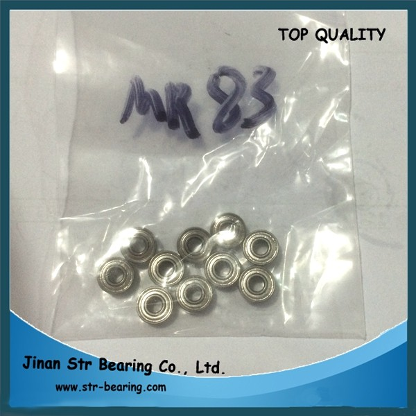 3x8x3 micro ball bearing mr83zz dental handpiece bearings mr83
