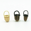 Latest Designs Jewelry Earrings Finding Wood Rattan Woven Small Basket Components