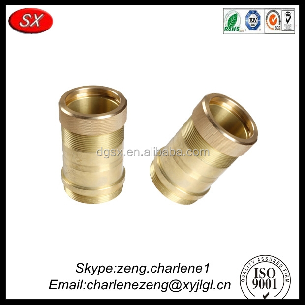 Customized precision aluminum / brass / steel central machinery wood lathe parts