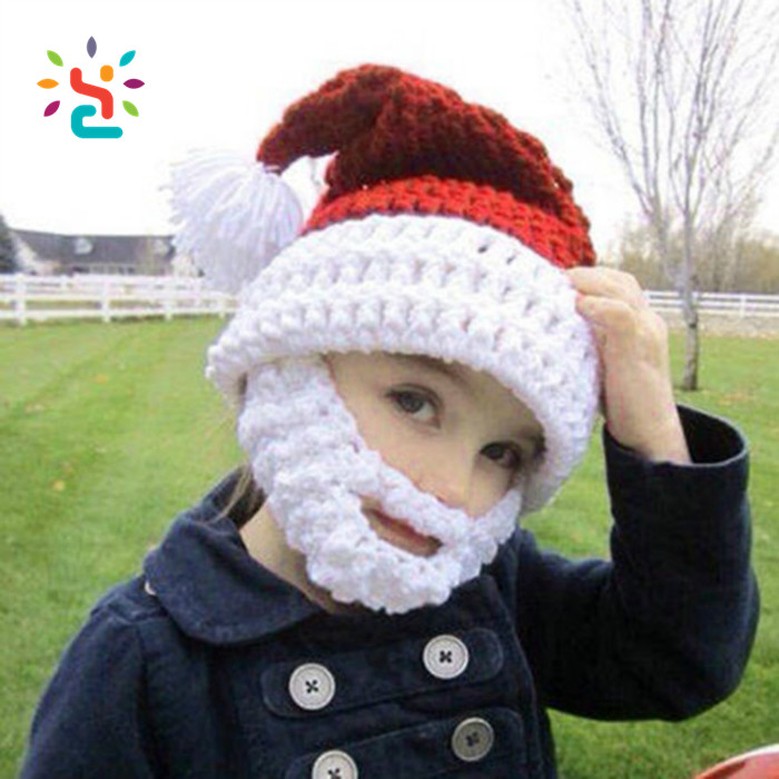 Christmas Knight Helmet Winter Hat For Children's Beanie Babies/crochet Knit Face Mask Beanie Hat/mustache Party Beanie Hat