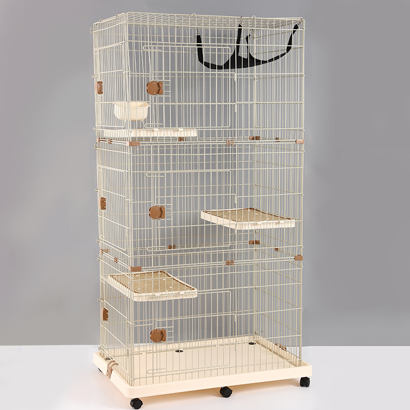 Three Layers High Quality Cheap Large Pet Cat Training Breeding Cage For Sale