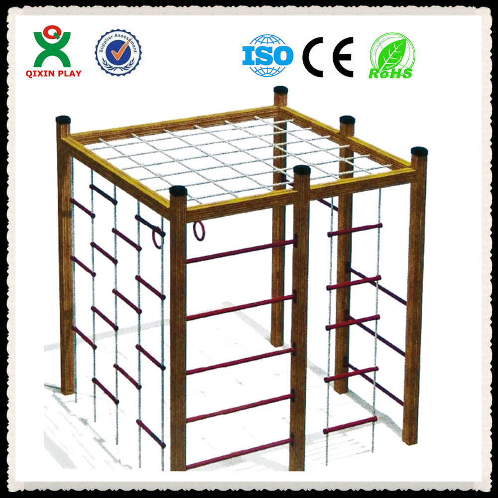China Wholesale Cheap Rope Adult/kids Climbing Frame In Wooden ...