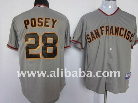 Baseball & Softball Wear san francisco giants #28 posey grey cool base jersey