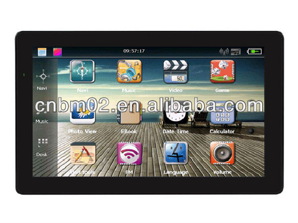 7 Inch Wince Net 6.0 Car GPS Navigator, 128MB SDRAM, 600Mhz CPU, 4GB, Bluetooth/AV-in optional