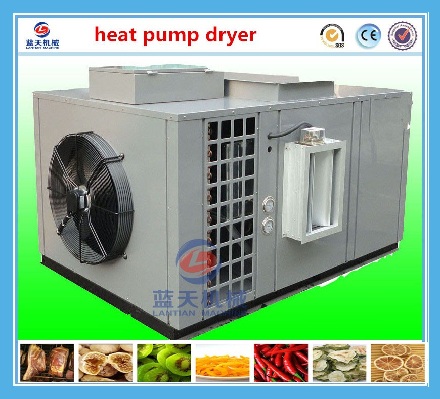 Industrial energy saving hot air 75% tray automatic delydrator machine/fish,fruit and almond dryer/heat pump dryer
