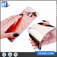 2016 Electroplate Mirror Soft TPU Case For Samsung Galaxy S7 Make up Mirror Case For Samsung Galaxy S7 edge Cheap Wholesale