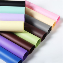 Wholesale mist paper pure color flower wrapping paper roll waterproof