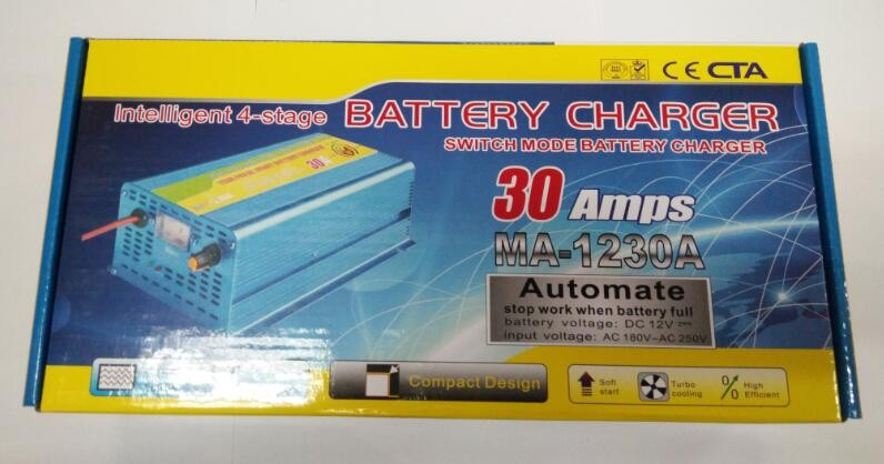 Factory price good quality 12V 30A automatically battery charger with floating mode