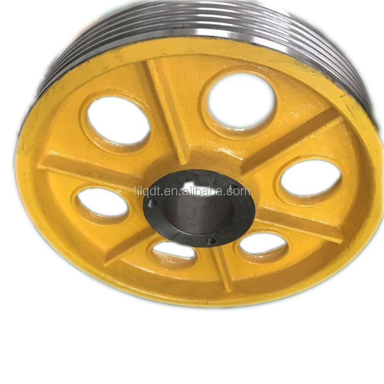 High speed T lifts elevator cast iron wheels with elevator accessories parts