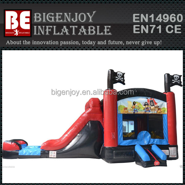dry wet Inflatables Pirate Bounce House Combo