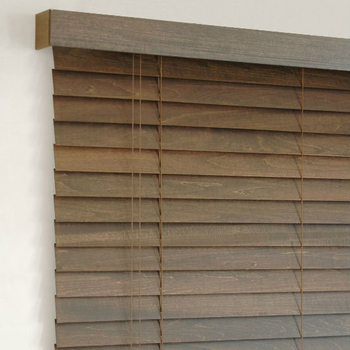 New Style Antique Color Faux Wood With Valance Wooden venetian blinds/ /PVC shade