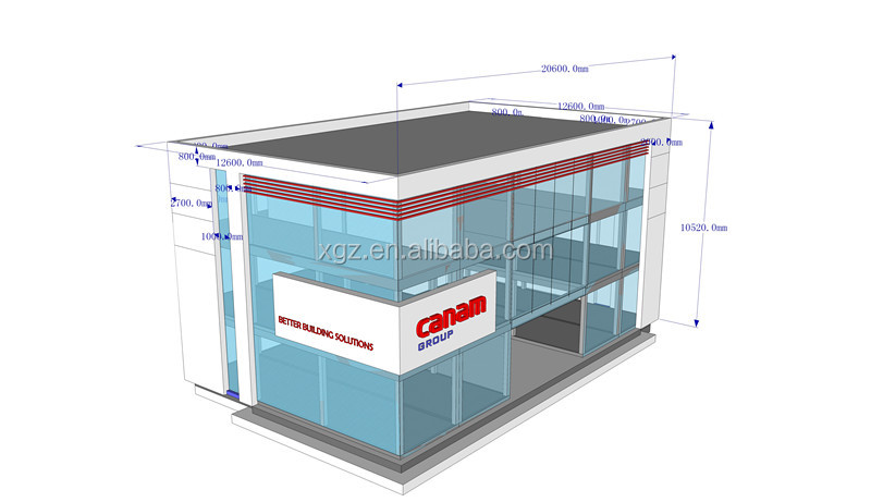 cheap modern modular prefab house for office