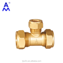 Thread and compression copper alloy fittings 654 compression reducing tee