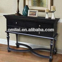 elegant cheap wooden modern 3 drawer console table