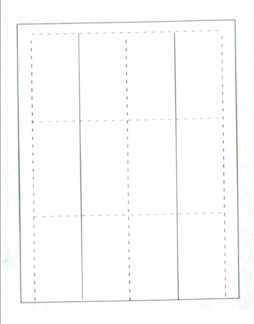 """Print-Ready Fold-Over Business Cards (3-1/2"""" x 2""""), 6-UP, on Perforated 8-1/2"""" x 11"""" White 65lb Cover Paper - 250 Sheets (1500 Cards)"""