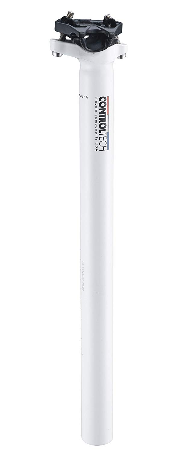 Control Tech One 10mm Offset Seatpost White Control Tech USA SP-1080-WHITE 30.9 x 350mm