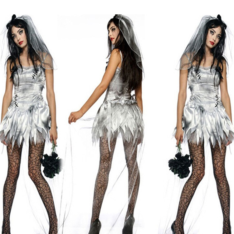 hot sale halloween sexy corpse bride costume ghost bride cosplay costumes for women