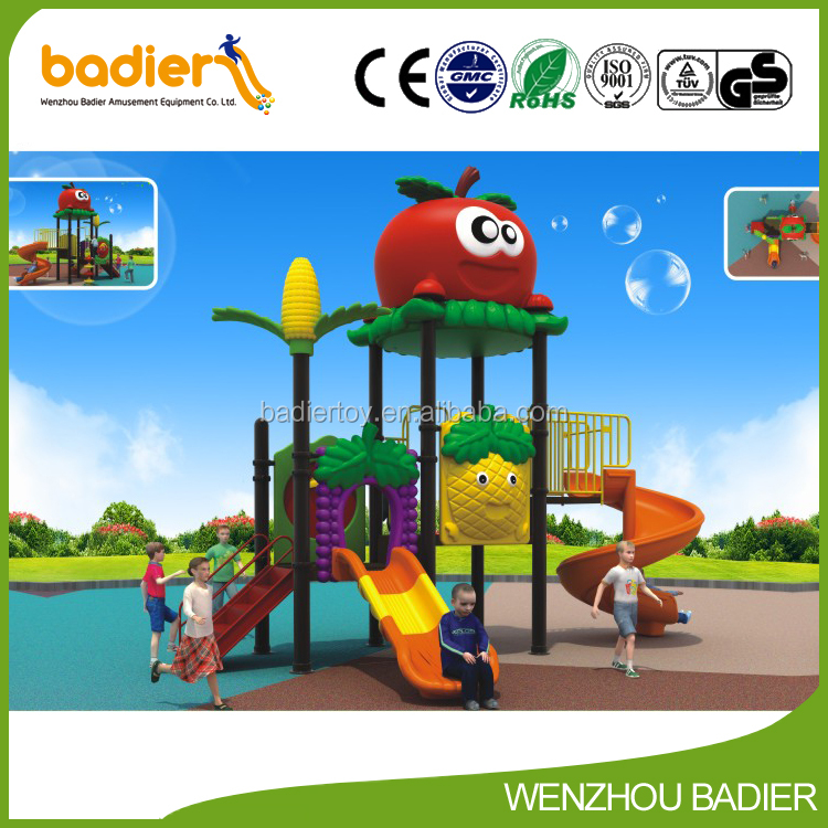powerful design children outdoor playground with sliding boards