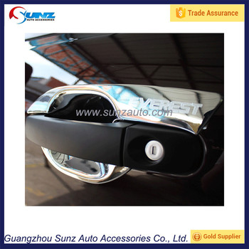 For Ford Everest 2016 2015 SUV Matte Black ABS Door Handle Cover Chrome Bowl set For & For Ford Everest 2016 2015 Suv Matte Black Abs Door Handle Cover ...