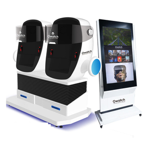 Luxury VR Experience 9D Cinema White robot 360 Degree View 9d cinema theater 2 seat 9D VR with stand big touch screen