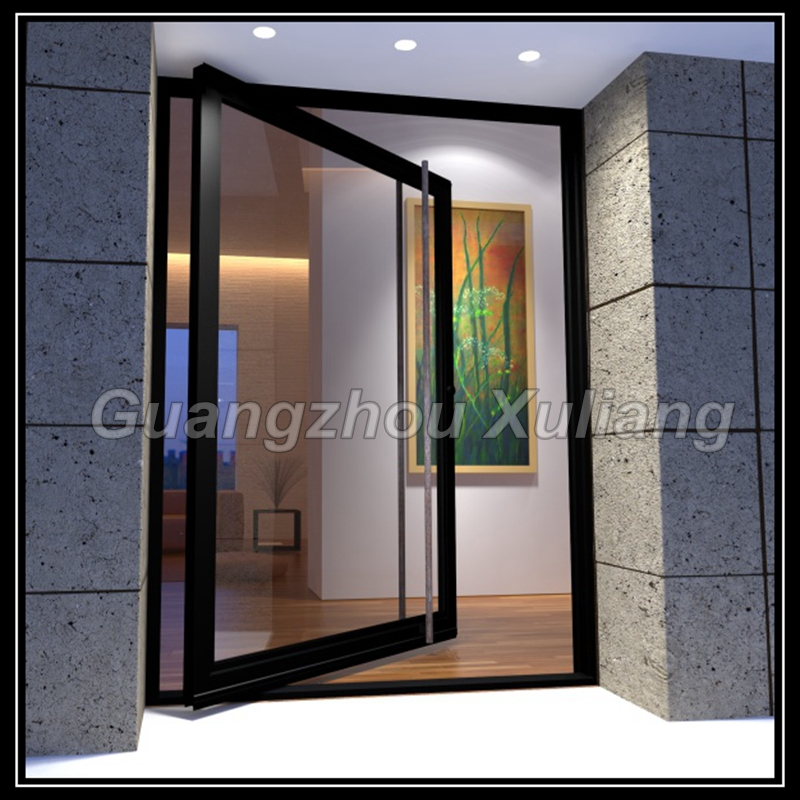 cadre en aluminium pivot porte d 39 entr e en verre pivot. Black Bedroom Furniture Sets. Home Design Ideas