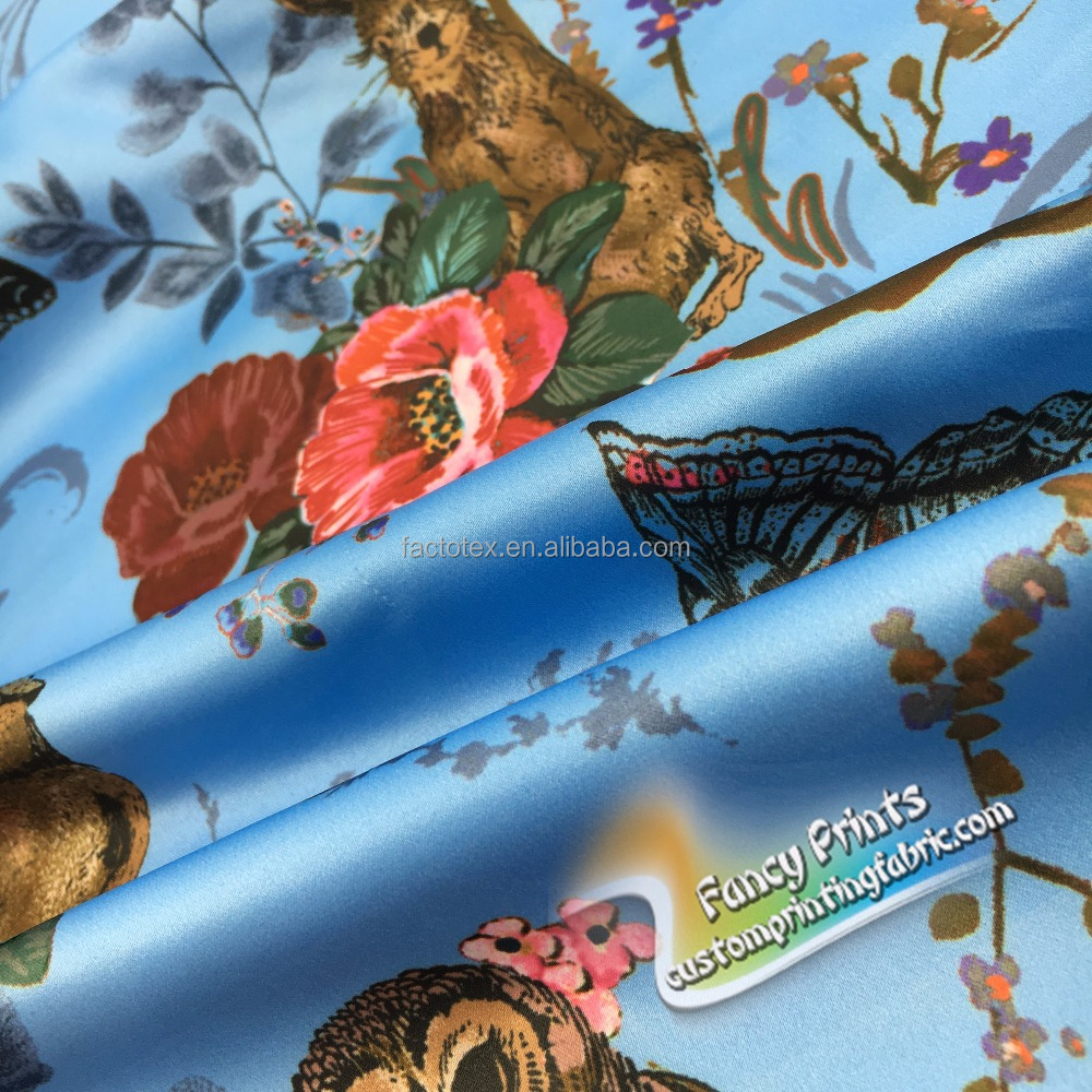 Factory directly scarf printing custom pure silk fabric