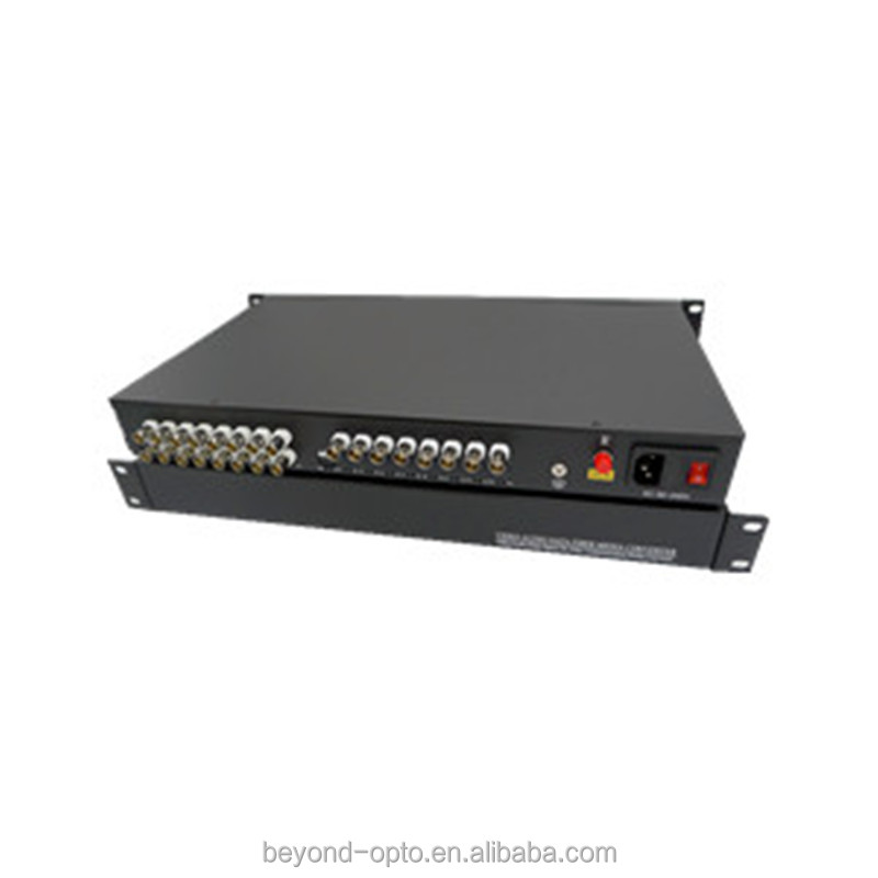 OEM 24ch 32ch digital video to analog video fiber optic converter multiplexer extender