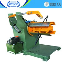 Metal Aluminum Steel Coil Hydraulic Uncoiler for punch press