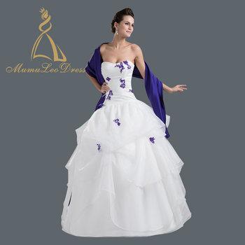3ccb05db468 Turkey Bride Indonesia Bubble Organza White And Blue Wedding Dress With  Shawl