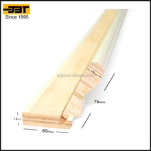 veneer wrapped Interior wood skirting line
