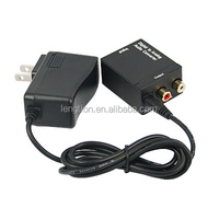 DAC Digital to Analog Audio Converter with Digital Optical Toslink and S/PDIF Coaxial Inputs and Analog RCA Output