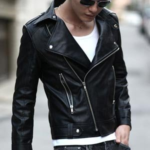 Men's Fitted Rider Leather Jackets [black] Er.lk001 - Buy Men's ...