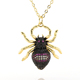 New Style Metal Copper Micro Pave CZ Spider Fashion Unique Insect Design Pendant Necklace