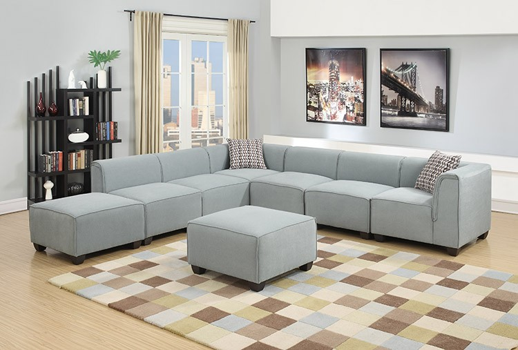 European design stationary sofa living room modern sofa Stationary Sectional sofa corner sectional /ZOY9987A