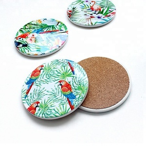 Absorbent/matt/shinny Ceramic Coasters Stone Coasters For Drinks With Cork Back